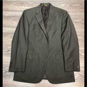 Brooks Brothers Solid Brown Blazer 40L Long
